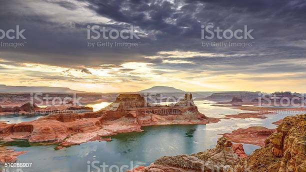 Lake Powell Sunrise Stock Photo - Download Image Now