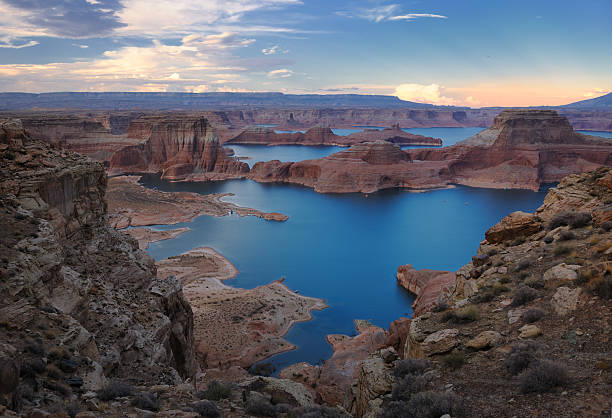 Lake Powell Sunset Panorama (XXXL) stock photo