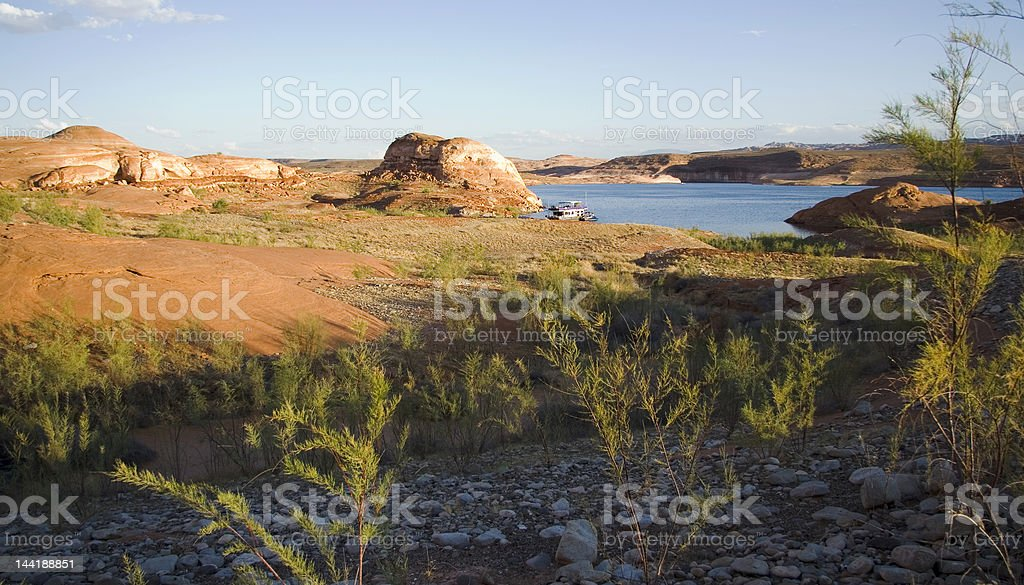 Lake Powell Terrain royalty-free stock photo