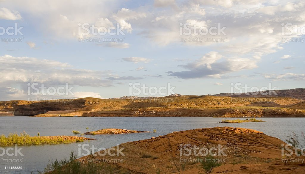 Lake Powell Water and Land royalty-free stock photo