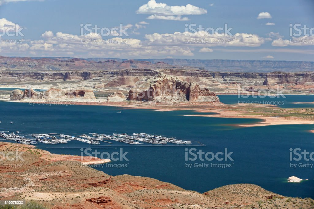 Lake Powell、Arizona stock photo