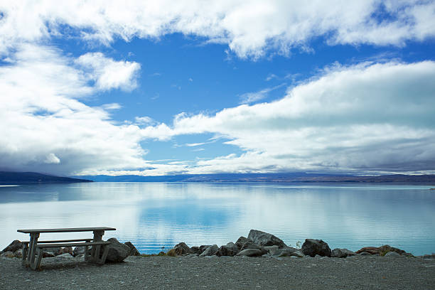 Lake Pukaki Looking Towards The Mount Cook stock photo 25da8c20064