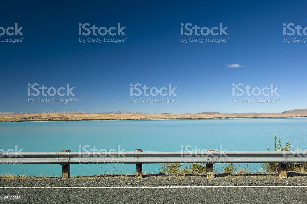 lake pukaki new zealand stock photo