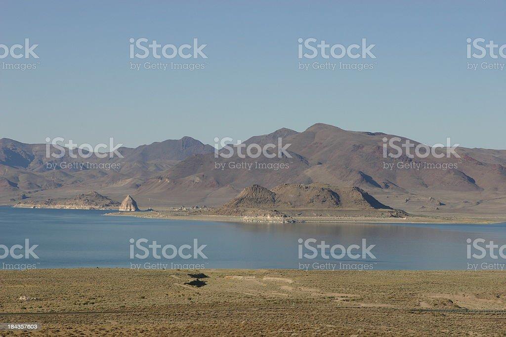 lake pyramid, nevada stock photo