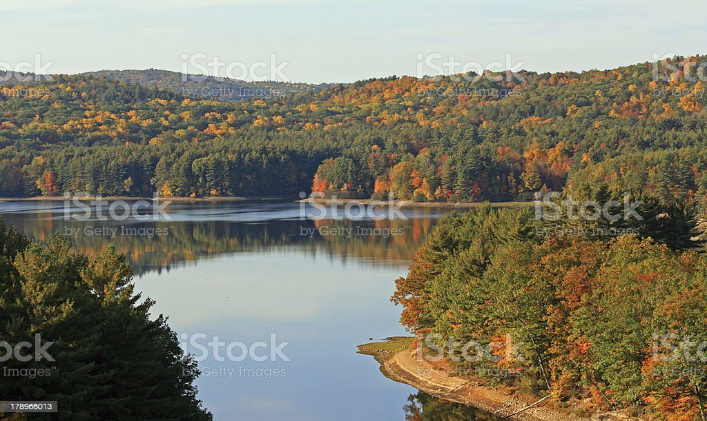 Lake Refelections, this is the Farmington River stock photo