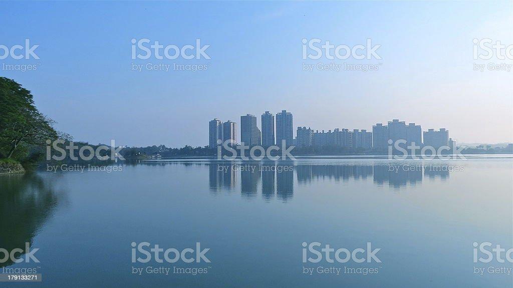 Lake reflection royalty-free stock photo