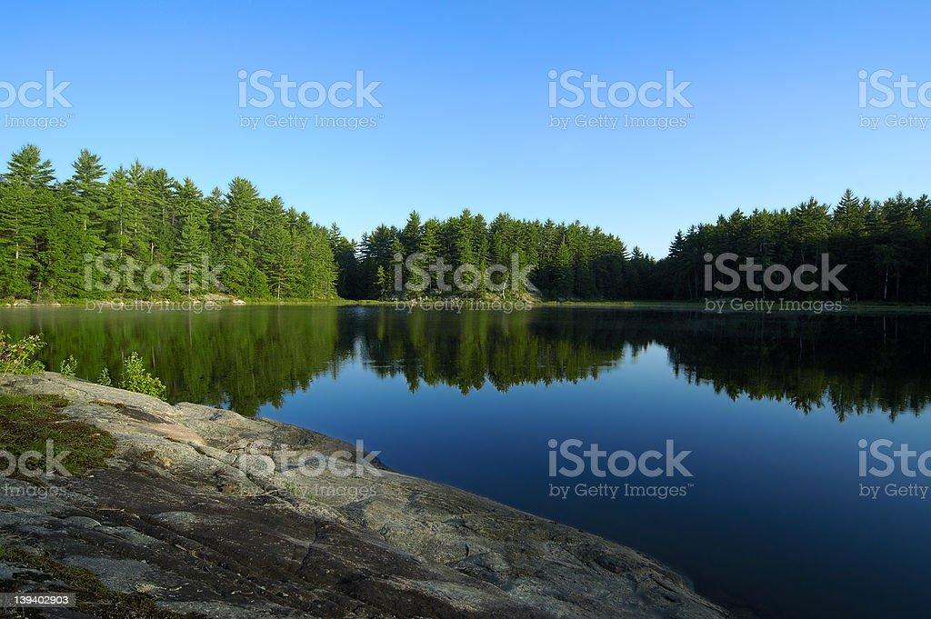 Lake Reflections royalty-free stock photo