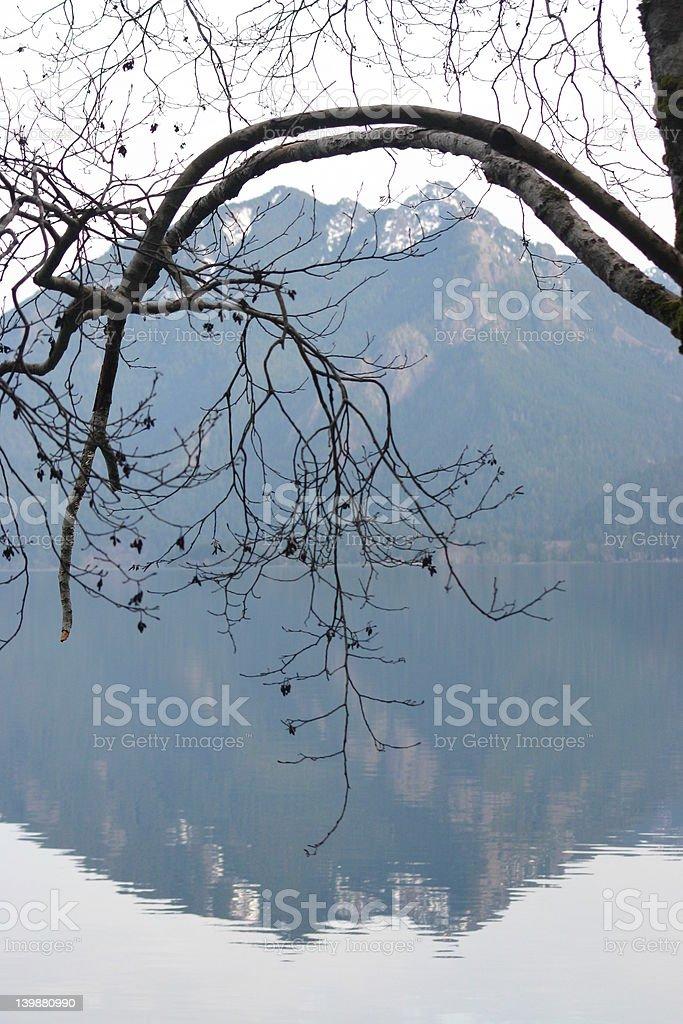 lake relection royalty-free stock photo