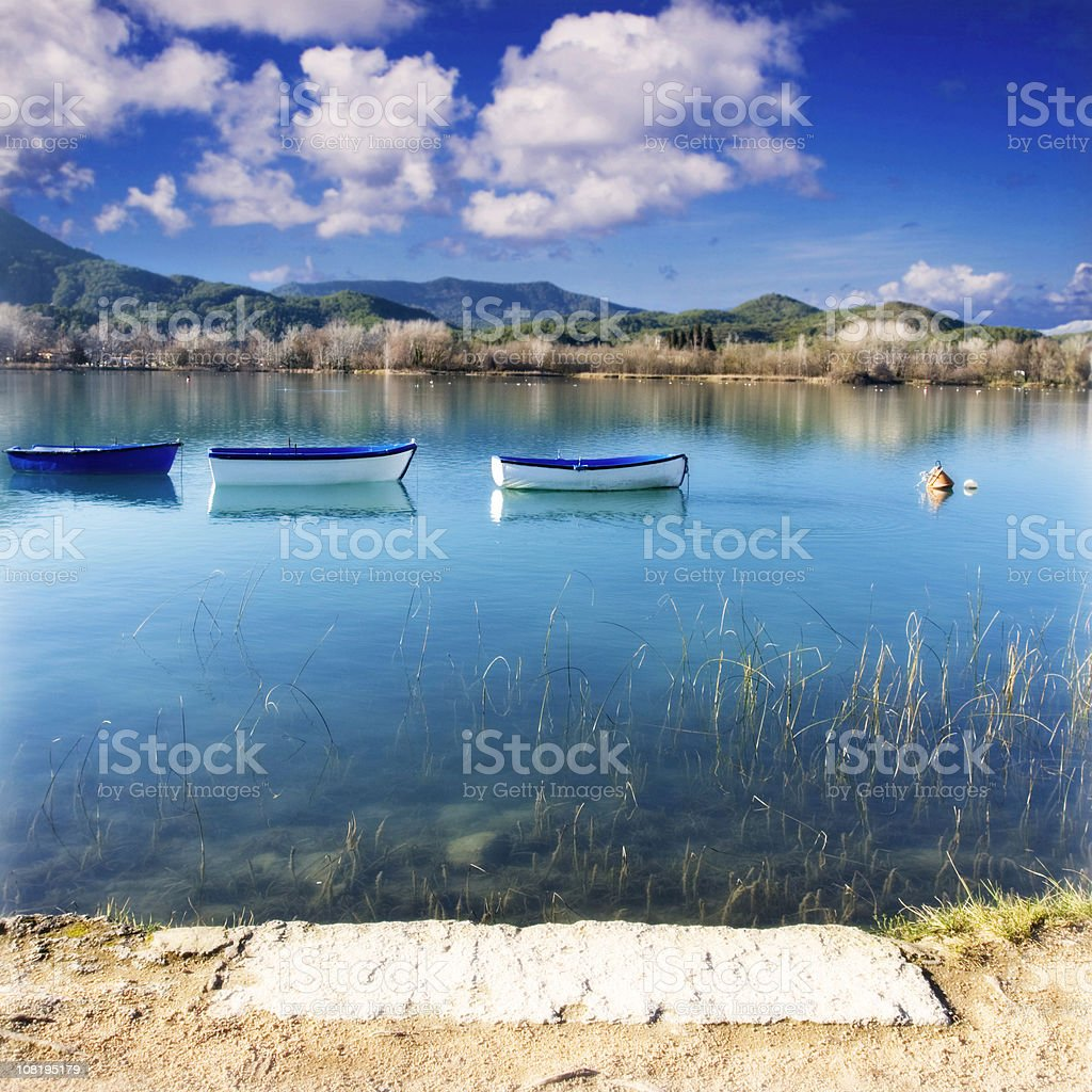 Lake relief royalty-free stock photo