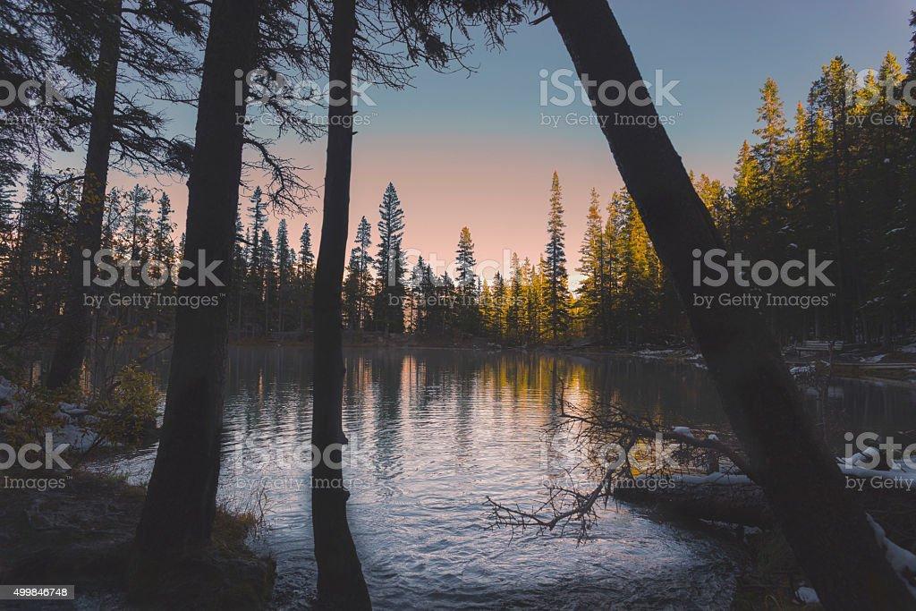 Lake Rises stock photo