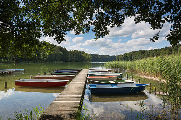 Lake Roofensee in the eastern part of Germany, Europe – Foto