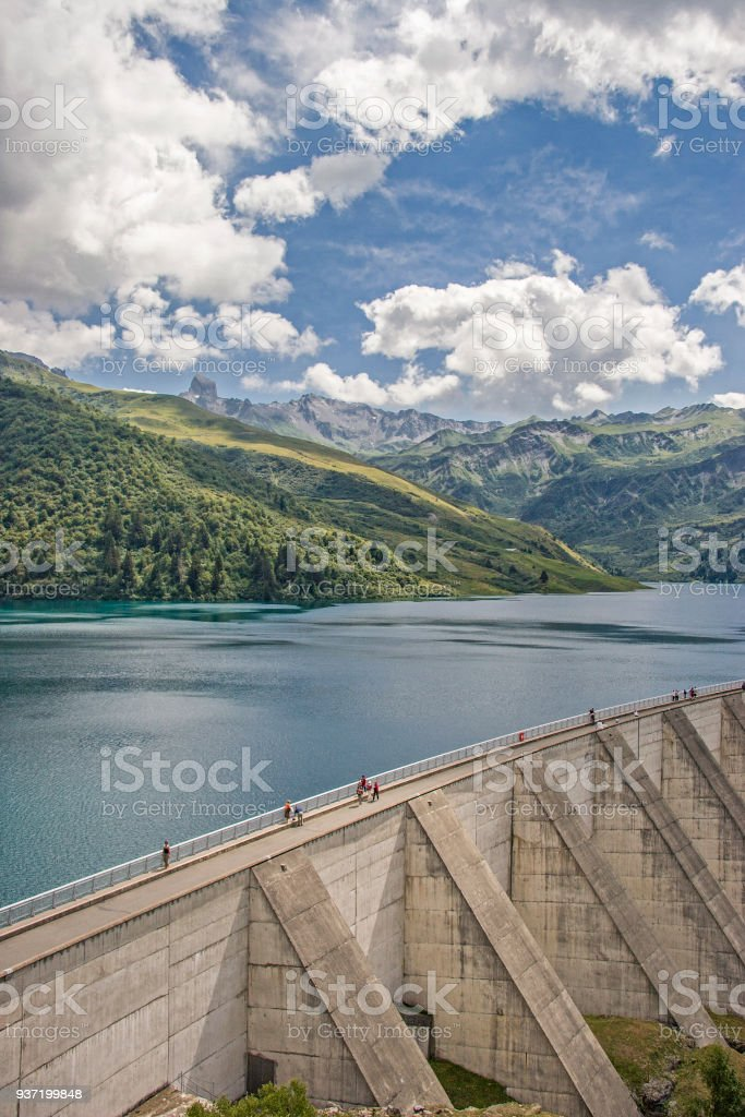 Lac de Roselend in Savoy stock photo
