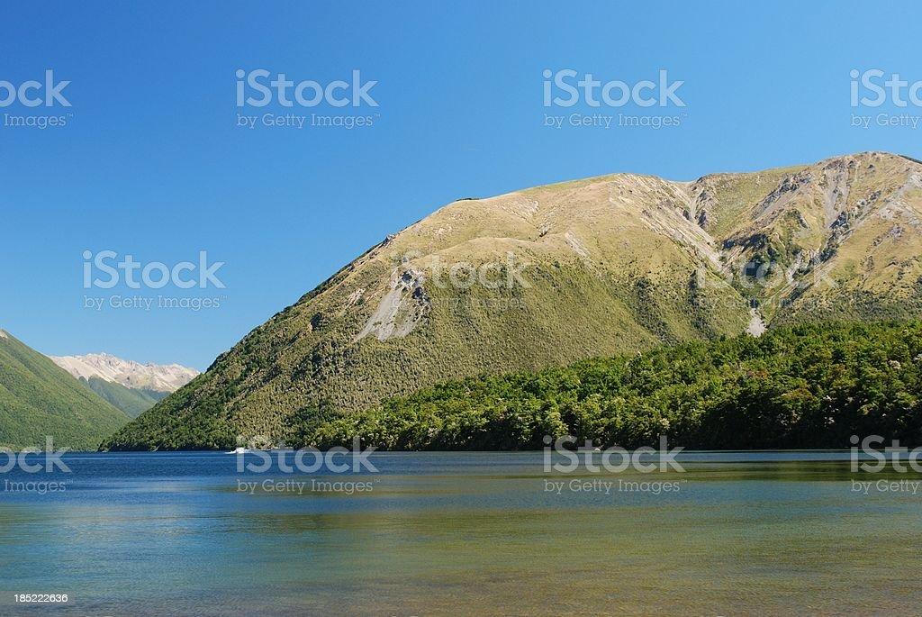 Lake Rotoiti, Nelson Lakes National Park, NZ stock photo