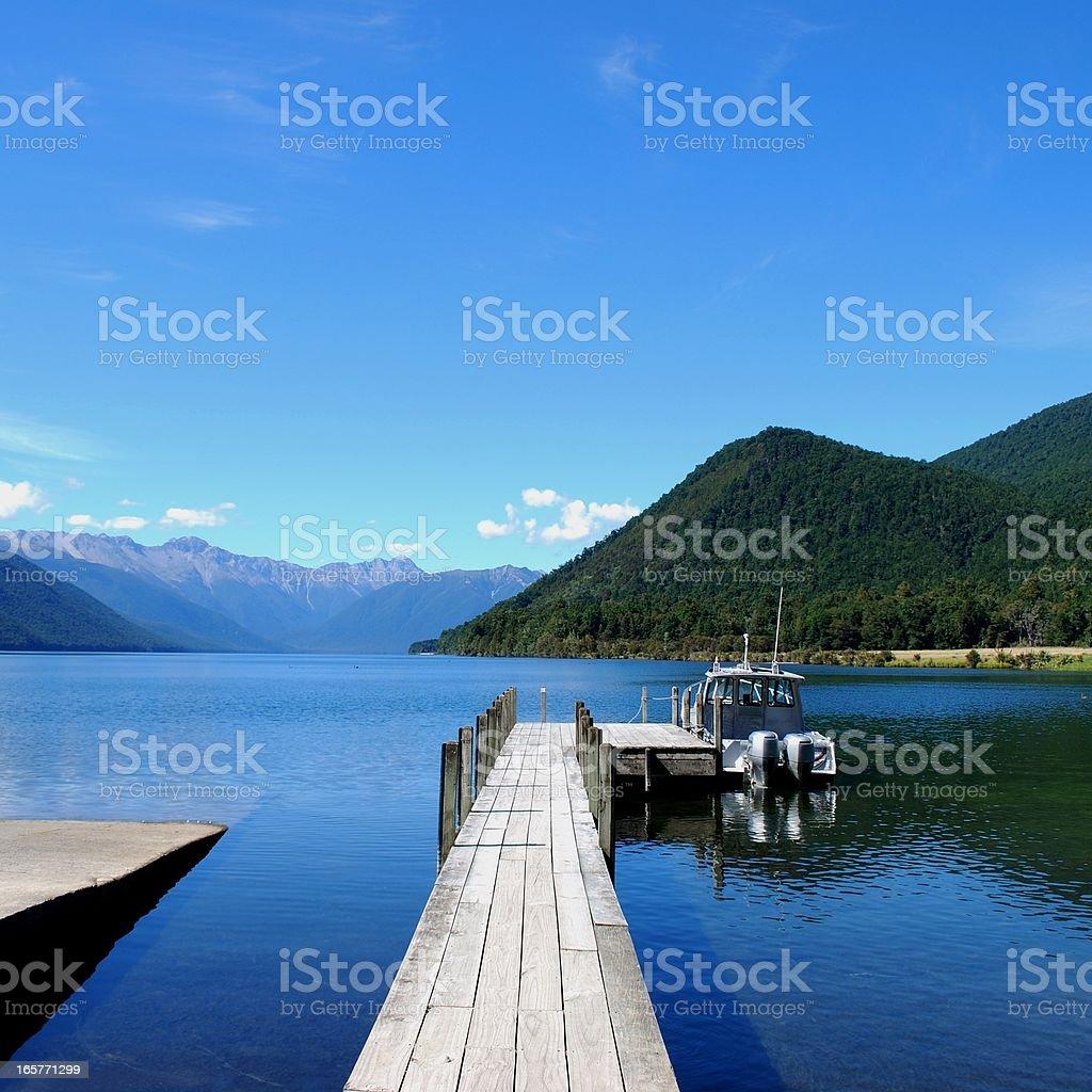 Lake Rotoroa, Nelson Lakes National Park, NZ stock photo