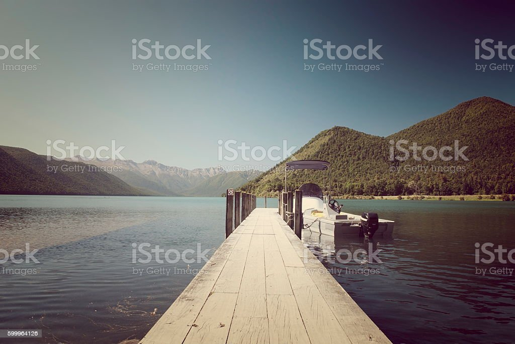 Lake Rotoroa, Nelson Lakes National Park, Tasman, New Zealand stock photo