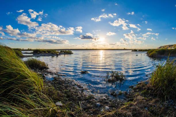 coucher de soleil lac rush paysage - Photo