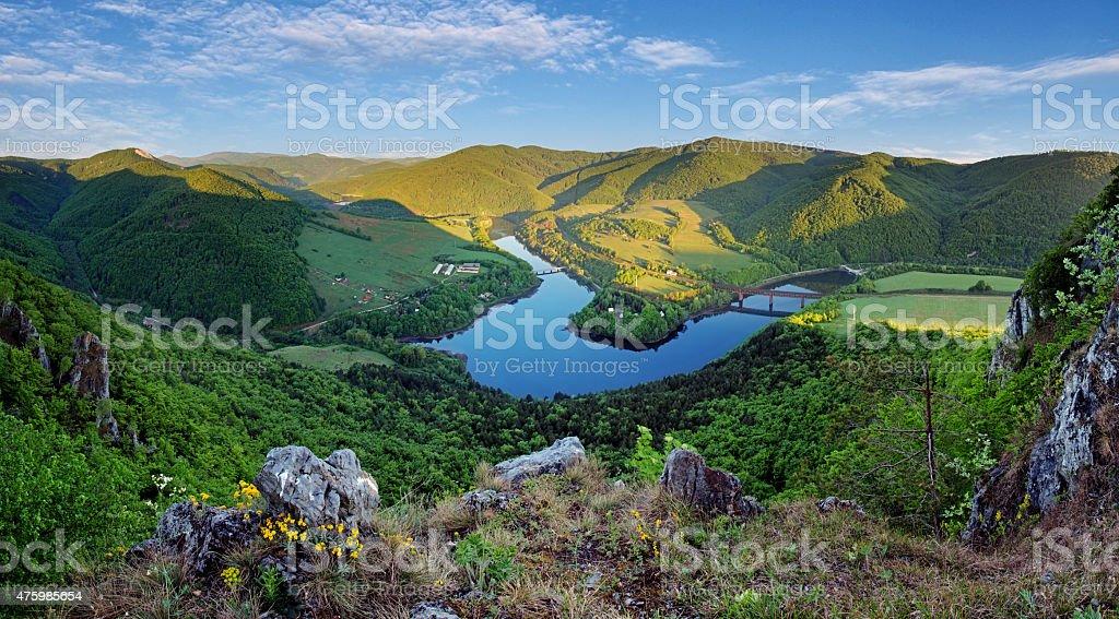 Lake Ruzin in Slovakia countryside near Kosice stock photo
