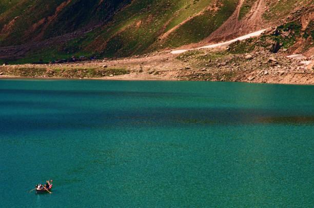 Lake Saiful Malook - Naraan Valley, Pakistan. stock photo