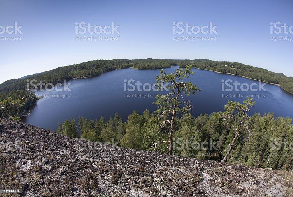 Lake Saimaa fisheye landscape royalty-free stock photo