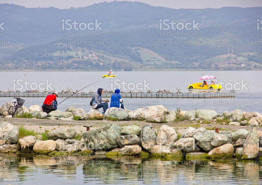 Lago sapanca foto de stock libre de derechos