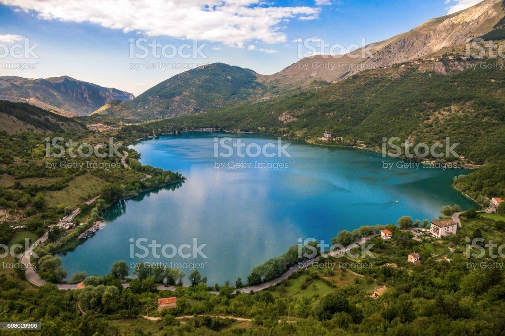 Lake Scanno (L'Aquila, Italy) – zdjęcie