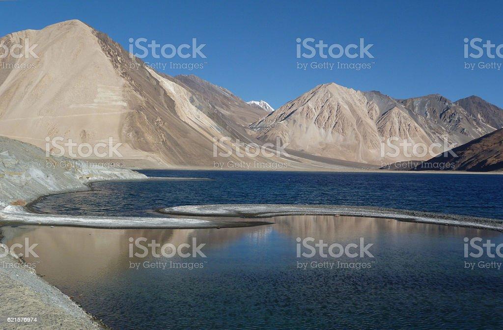 Lake Scene at Leh photo libre de droits