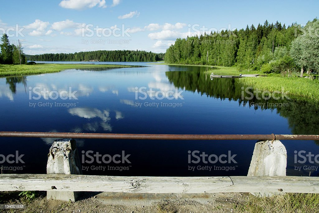 Lake scenery in Finland royalty-free stock photo