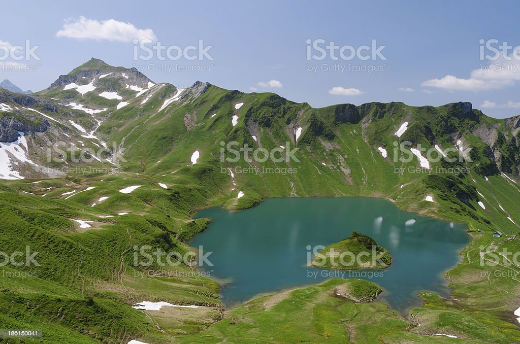 Lake Schrecksee stock photo
