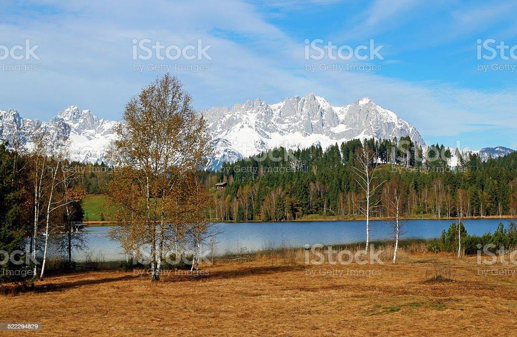 Lake Schwarzsee in Kitzbühel / Tyrol / Austria stock photo
