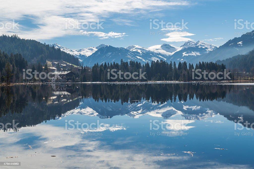 Lake Schwarzsee stock photo