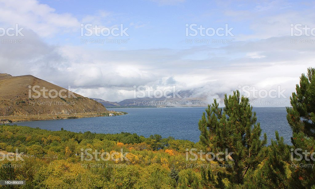 Lake Sevan. royalty-free stock photo