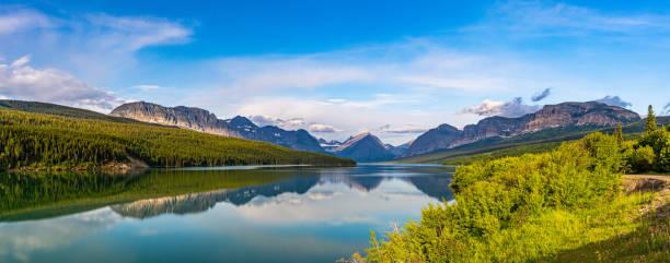 Lake Sherburne Glacier National Park stock photo