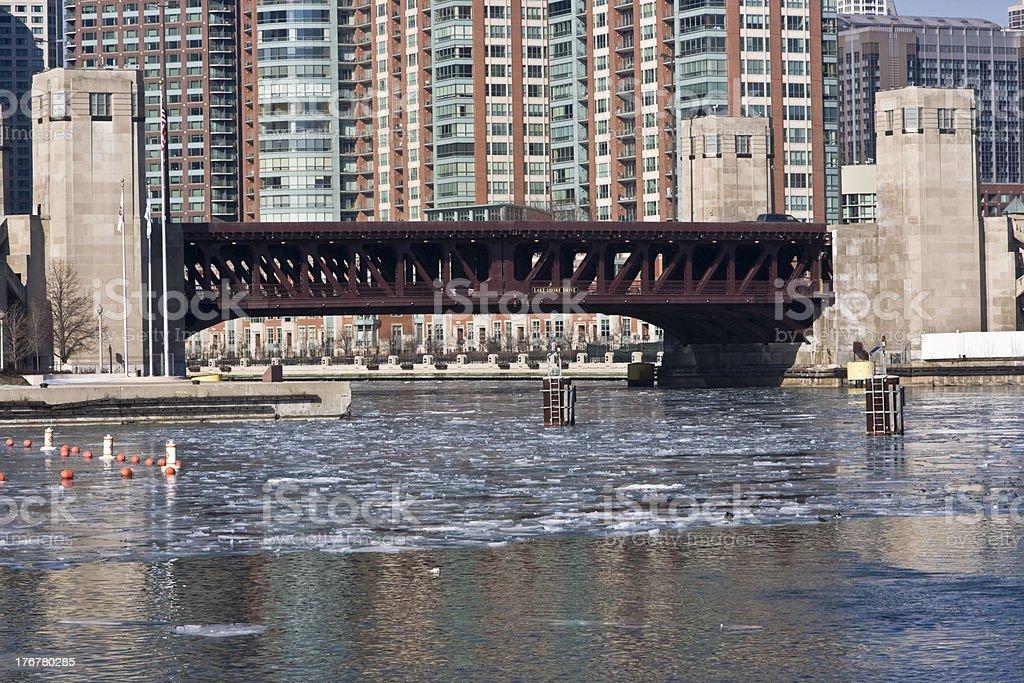 Lake Shore Drive Bridge royalty-free stock photo