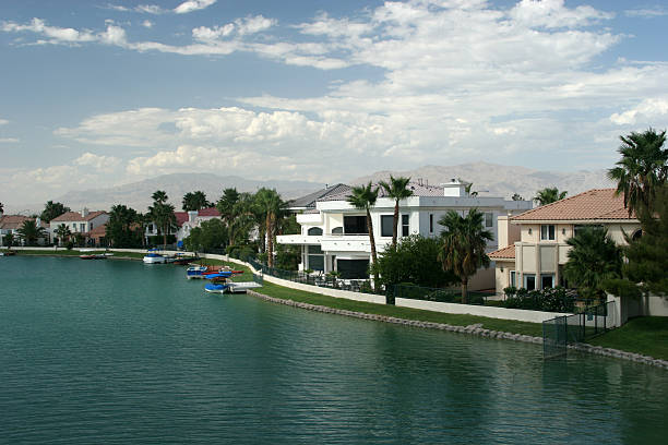 Lake Shore homes in Las Vegas stock photo