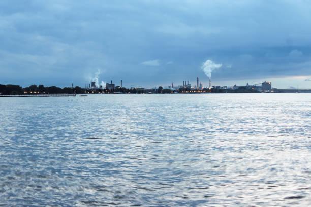 Lake shore industry stock photo
