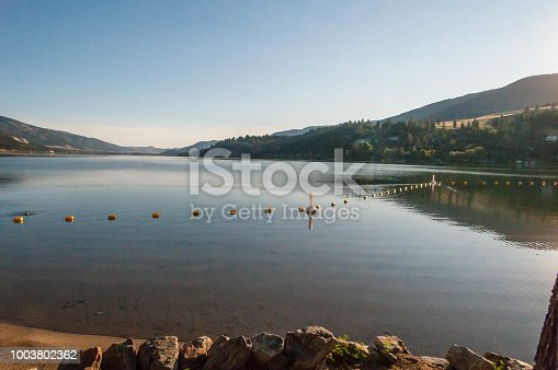 Lake Shore on a early morning in the Okanagan of British Columbia.