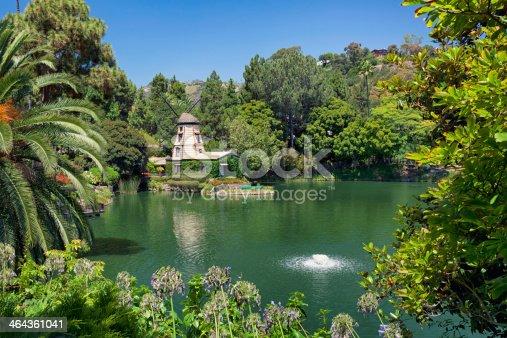 The Lake Shrine park retreat on Sunset Blvd in Los Angeles.