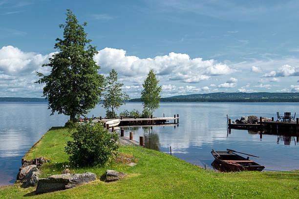 Lake Siljan, Sweden stock photo