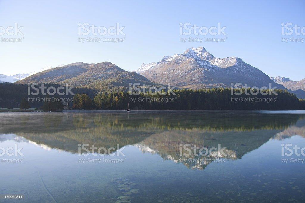 Lake Sils - Engadine royalty-free stock photo