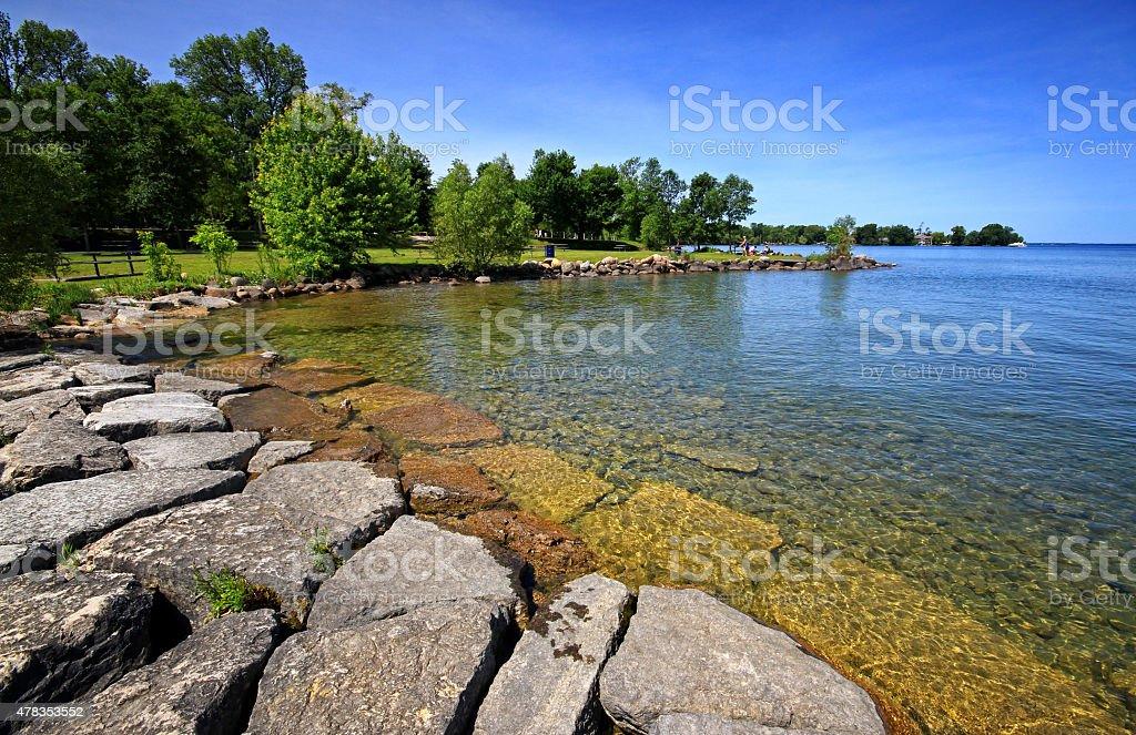 Lake Simcoe Summer stock photo