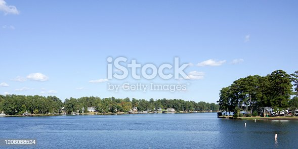 Panorama of Lake Sinclair in Georgia, USA