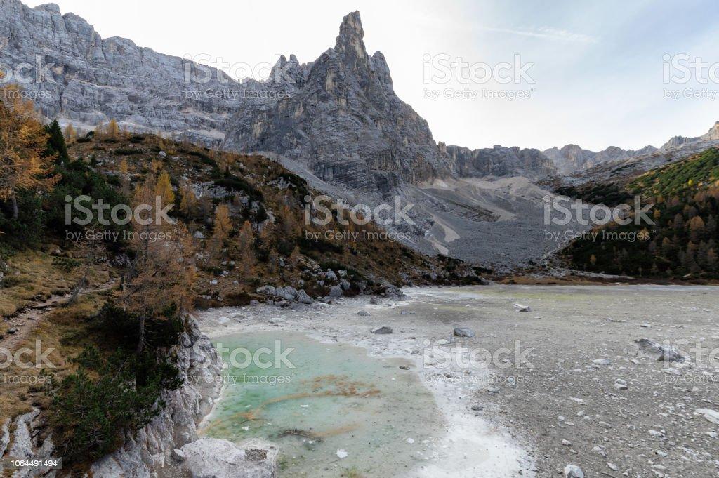 Lago di Sorapis stok fotoğrafı