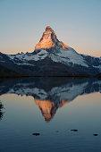 lake Stellisee Matterhorn , Zermatt , Switzerland.
