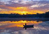 istock Lake Sunrise-Nyona Lake-Fulton County Indiana 1252941446