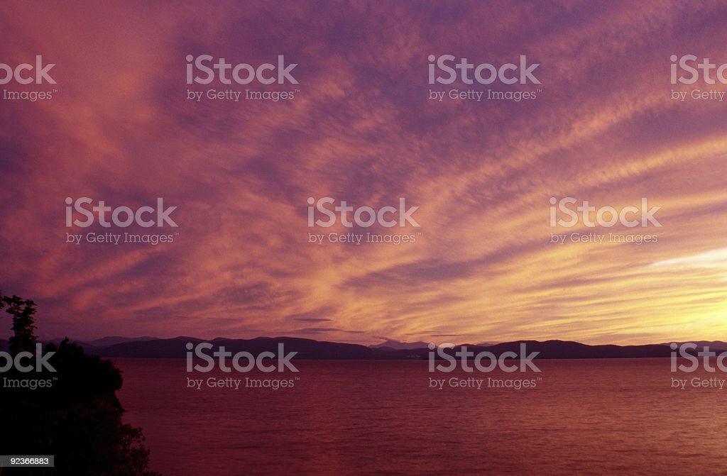 Lake Sunset royalty-free stock photo