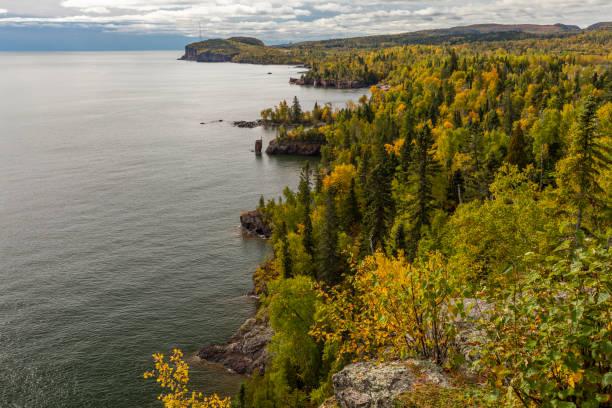 Lake Superior Autumn Landscape stock photo