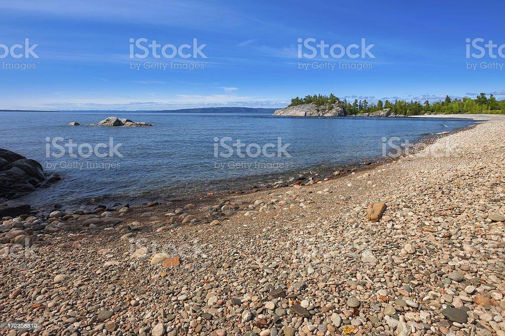 Lake Superior Beach royalty-free stock photo