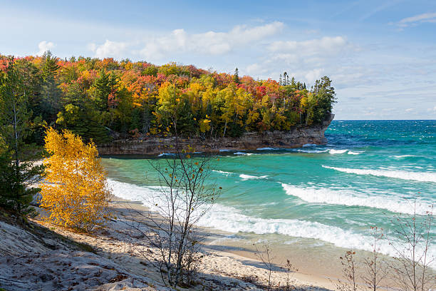 Lake Superior Chapel Beach in Autumn at Pictured Rocks