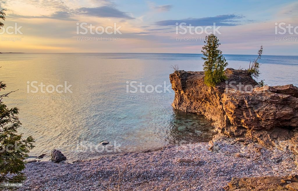 Lake Superior Coast At Presque Isle Park Marquette Michigan stock photo
