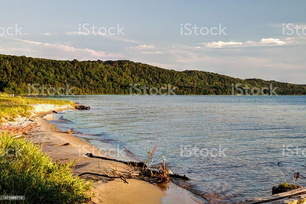 Lake Superior Coastal Beach stock photo